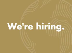 We're hiring.
