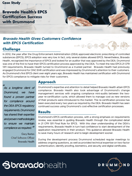 Case Study cover page Bravado Health